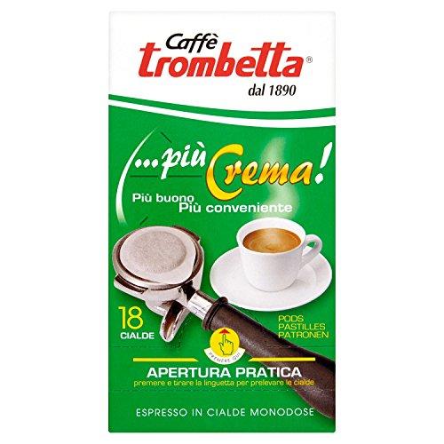 Caffè Trombetta Cialda Più Crema - 6 Confezioni da 18 Cialde
