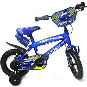 Reset - Bicicleta Infantil Grand Prix Boy, 16 Pulgadas, Azul, 2 Frenos