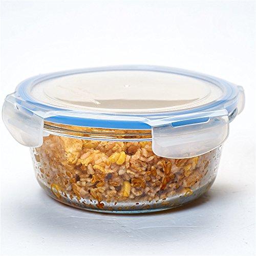 Recipientes de vidrio cristal de pescado fresco lunch box longitud cartucho frutas microondas