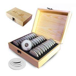 30 Monete Da Collezione Scatole Di Immagazzinaggio Monete Da Collezione In Legno Scatole Di Protezio