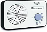 TechniSat VIOLA 2 tragbares DAB Radio (DAB , UKW, Lautsprecher, Kopfhöreranschluss, zweizeiligem Display, Tastensteuerung, klein, 1 Watt RMS) weiß/schwarz