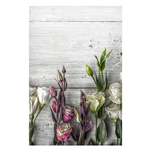Lavagna magnetica Bilderwelten–Tulip rose legno Shabby look–paesaggio formato 2:...