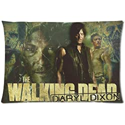 The Walking Dead Pillowcase Zippered Throw Pillow Cover Soft Cotton Comfortable Two Sides Picture Printed Custom Standard Size 20x26