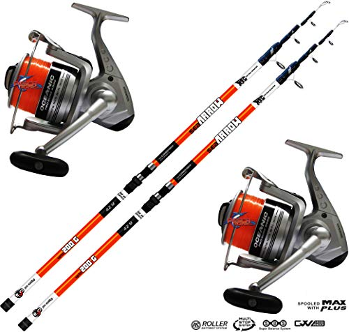 combo surfcasting Kit 2 pz Canna Surfcasting Evo Sea Arrow 420 + 2 PZ Mulinello Trabucco Oceanic 8000