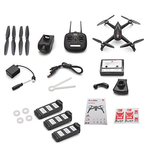 Drone quadricottero con videocamera HD da 1080p 5G WiFi 2.4GHz aereo radiocomandato RC GPS WiFi Camera FPV one-key taking off/landing e headless mode