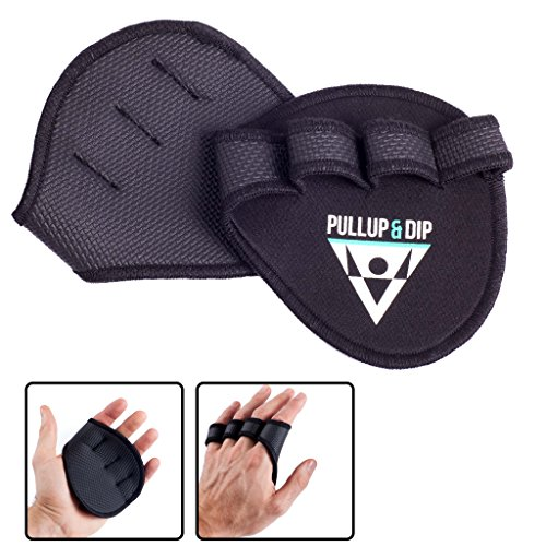 PULLUP & DIP Guantini palestra / Grip pads per pull-ups, fitness, bodybuilding & sollevamento pesi /...