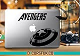 Avengers Capitan America Marvel MacBook adesivo in vinile, adesivi, per MacBook, colore: nero