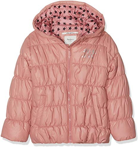 Pepe Jeans Margot Jr Giacca, Rosa (Dusty Pink 372), 12 Anni Bambina