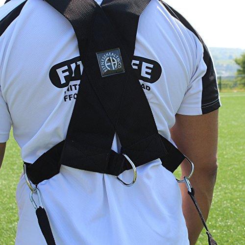 Fitness Health Arnés de resistencia FH resistente para entrenamiento de fuerza con correas de tracción de rugby equipo de entrenamiento de fútbol