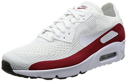 3608566800 NIKE Men's Air Max 90 Ultra 2.0 Flyknit White/Gym Red/Black 875943 ...
