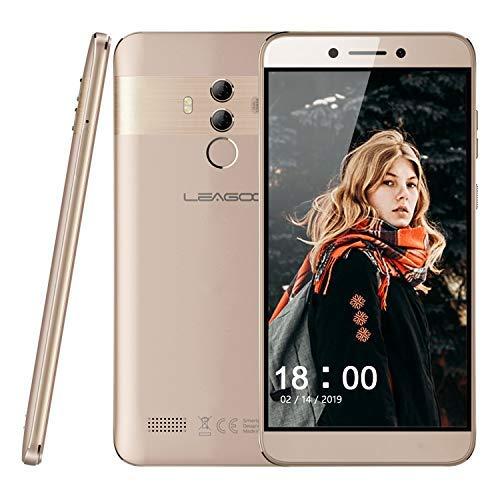 "Smartphone ohne Vertrag Leagoo T8s Dual SIM Mobiltelefon Handy 5,5\"" Display Dual-Hauptkameras 13MP + 2MP, 4GB RAM + 32 GB ROM 128 GB Erweiterbar Gesicht Fingerabdruck Sensor, Android 8.1 (Gold)"
