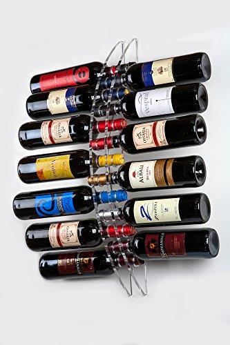 Portabottiglie da 13 Bottiglie Vino a Parete - Plexiglass / PMMA / Metacrilato trasparente - Porta...