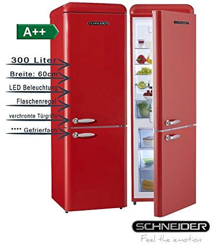 Schneider SL300FR CB a + + retro design in fuoco rosso brillante Frigoriferi EEK: a + + 60cm di...