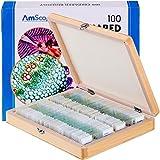 AmScope Lot de 100Diapositives de Microscope préconçues pour Jeu de biologie à la Maison