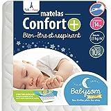Babysom - Matelas Bébé Confort+ - 60x120cm - Ultra Ventilé -...