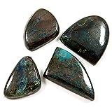Gems&JewelsHub 144CTS Azurite Chrysocolla naturale cabochon pietra preziosa mix 4pz lotto all ingrosso
