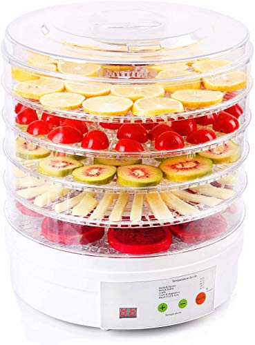 Delavala Food Dehydrator, Home Full Touch Digital Dehydrator,5 Trays Food Preserver with Adjustable Temperature and Timer