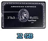 USB-Speicherstift im American Express Kreditkartendesign, Schwarz, 32GB, USB-Stick, von UK A2Z