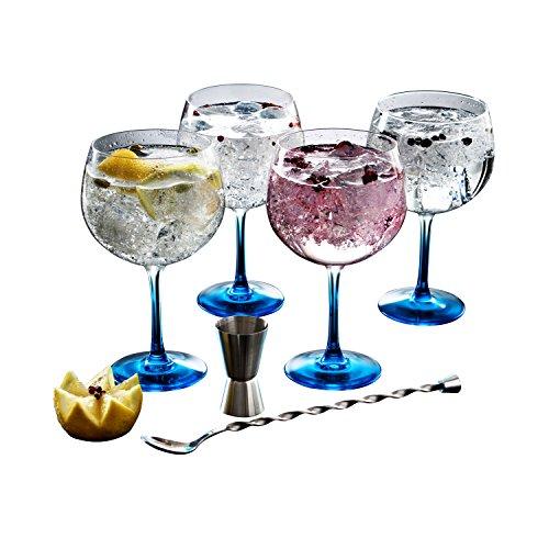 Luminarc - Fiesta Combinados, Set per cocktail a base di gin, 6 pz., incl. 4 bicchieri con base...
