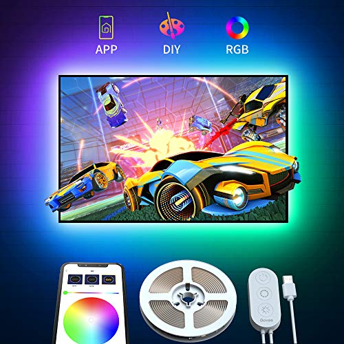 Govee Retroilluminazione TV LED 2M RGB USB con APP, 5050 Striscia LED Retroilluminazione TV...