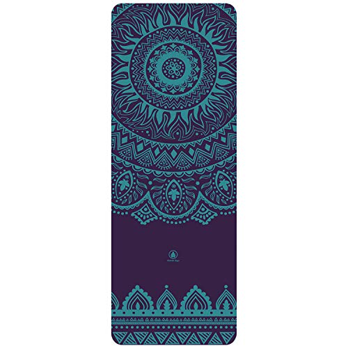 Homfa Esterilla de Yoga Esterilla de Gimnasia de Caucho Natural Yoga Mat Antideslizante 2-in-1 de Tapete y Toalla Double Capa 4.2mm de Grosor 185 x 67.4cm (Tipo-1)