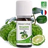 Huile Essentielle de Bergamote Bio Mearome - 10 ml - 100% Pure et Naturelle - HEBBD - HECT - Qualité et Fabrication Française