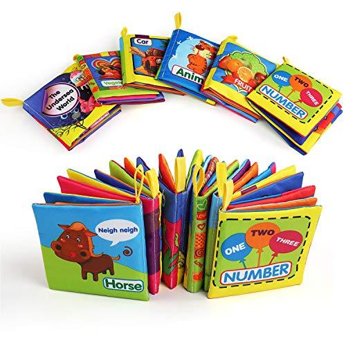 BelleStyle Libro Stoffa, Set Neonato, Quiet Book, Libro Tattile per Bambini, Gioco Libro Non Tossico...