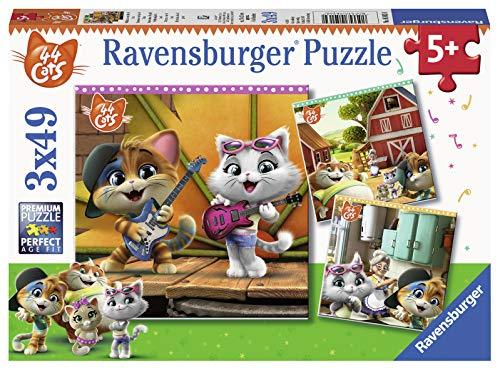 Ravensburger 05013 44 Gatti Puzzle, 3 x 49 Pezzi