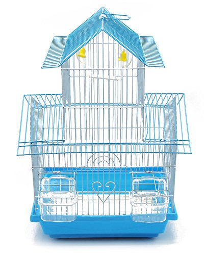BPS Gabbia Bird Cage Metallo con alimentatore Bevitore Swing Hopper Bucket 2 Taglie M/L Colore...