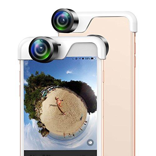 USAMS HD 360 Grados Panorámica Cámara Lente Doble Antes y Después para iPhone 6/iPhone 6S
