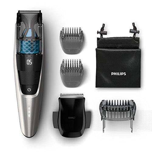 Philips BT7220/15 Serie 7000 Regolabarba Aspirante con e senza Filo, Autonomia fino a 80 min, Custodia