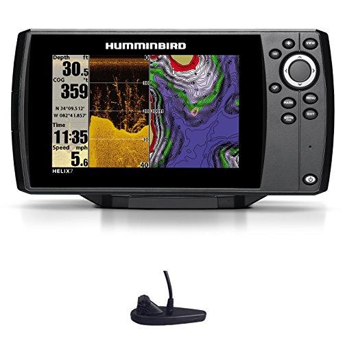 Chartplotter + ecoscandaglio HELIX 7 GPS HD Down Imaging trasduttore TA - HUMMINBIRD
