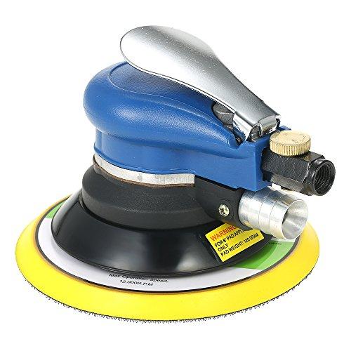 Festnight 10000 RPM Air Orbital Dual Action Orbit Polisher Grinding Sander Pneumatic Tools (6 Inches)