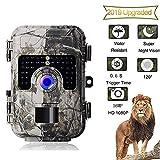 LGFB Leichte 120-Grad-Weitwinkel-Jagdkamera 16MP 1080P, ultrahochauflösende Wildlife-Videokamera mit aktivierter Infrarot-Nachtsicht und 32-GB-Karte
