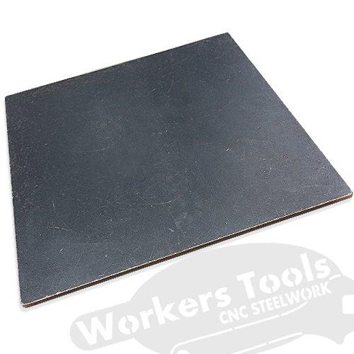 Stahlplatte Stahlplatten Flachstahl Eisenplatte Fußplatte S235-220 bis 300 mm (300x300 mm, 3 mm)