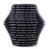 18 Piezas Filtro Anillos Set Adaptador de Lentes 37 49 52 55 58 62 67 72 77 82mm DC453