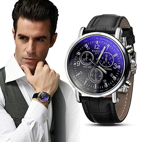 Watch Band creativa uomo Osservare necessario dell'attività di lusso in pelle per uomo casuale...