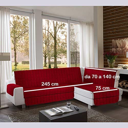 la biancheria di casa Simplicity Plus Angle Copri Salva Divano per divani ad Angolo (245 cm, bordò)
