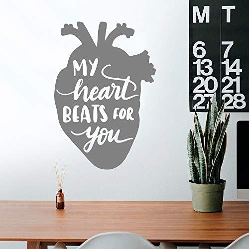 YuanMinglu Il Mio Battito Cardiaco, Adesivi murali, Adesivi murali Decorativi, Adesivi murali Applique, murali 27x37cm