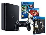 Playstation 4 Consola PS4 Slim 1Tb + 5 Juegos - The Last of us + God of war 3 + Uncharted Nathan Drake Collection
