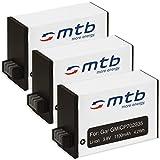 3X Batería Compatible con Garmin Virb 360 Action CAM [1100 mAh / 3.8V / Li-Ion]
