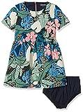 Tommy Hilfiger Mädchen Kleid Flower Print Dress S/S, Blau (Navy Blazer 431), 122 (Herstellergröße:7)