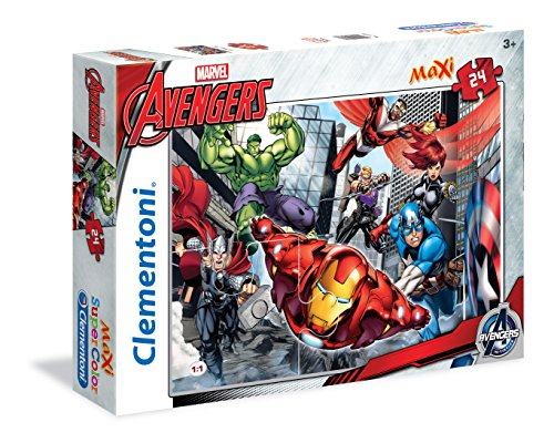 Clementoni - 24036 - Supercolor Puzzle - Avengers, We Are The Avengers - 24 Maxi Pezzi