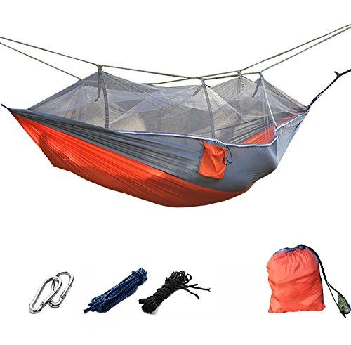 DHIDWWBBH Camping extérieur portatif moustiquaire en Nylon hamac Suspendu lit balançoire Dormir, Orange 22