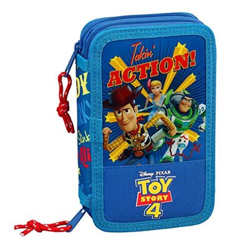 Toy Story 4 - Astuccio scolastico ufficiale con 28 pezzi, 125 x 40 x 195 mm