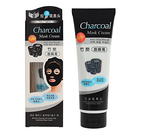 Shopeleven Charcoal Mask Cream Anti Blackhead, OIL CONTROL, Deep Cleaning Super Strength Peel Off