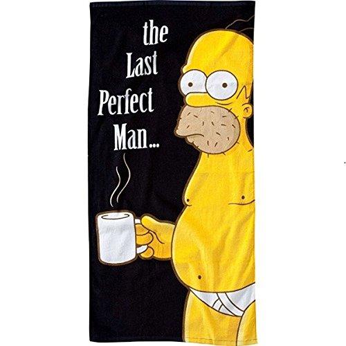 The Simpsons - Toalla de baño con diseño de Homer Simpson y texto 'The last perfect man'