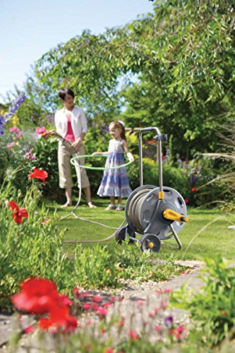 Hozelock 60m Assembled Hose Cart with 50m Hose is perfect for large gardens