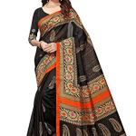 Clothfab Women's Cotton Saree With Blouse Piece (Free Size, Multi Colour)