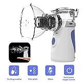 Nebuliseur Inhalateur, Portable Nébuliseur Inhalateur à Vapeur de Poche Vaporisateur D'humidificateur Personnel avec Masque et Embouchure Pack...
